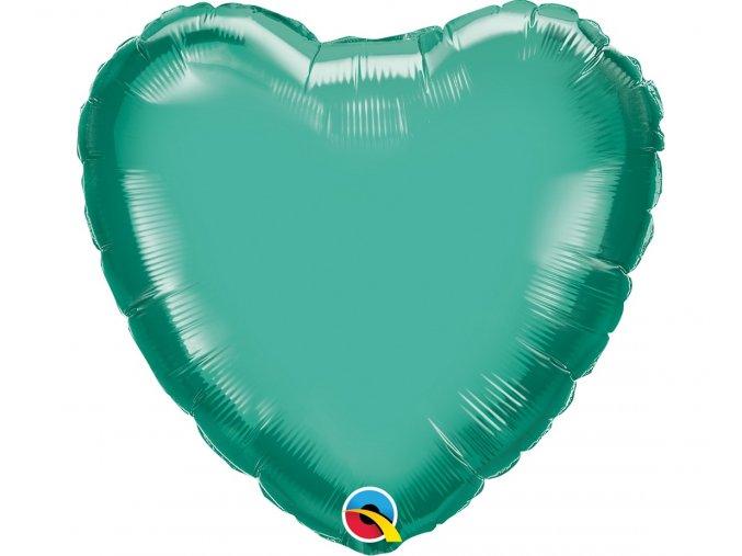 balon foliowy 18 cali ql hrt chrom zielony