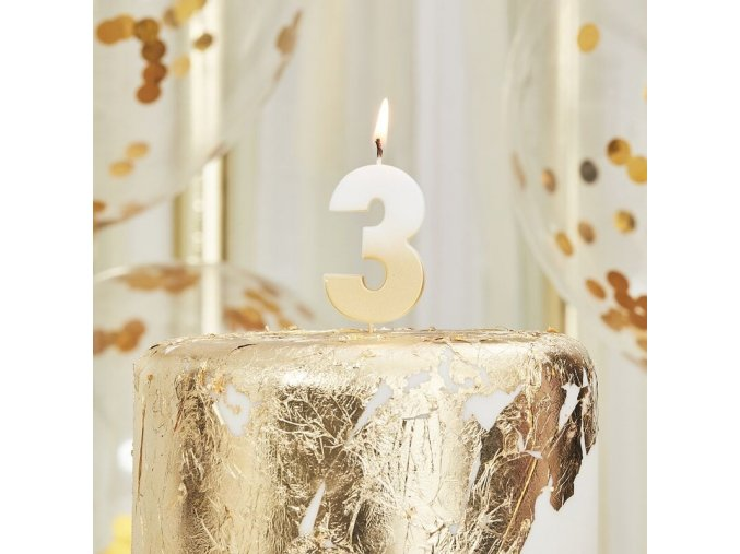 mix 219 gold ombre number 3 candle min