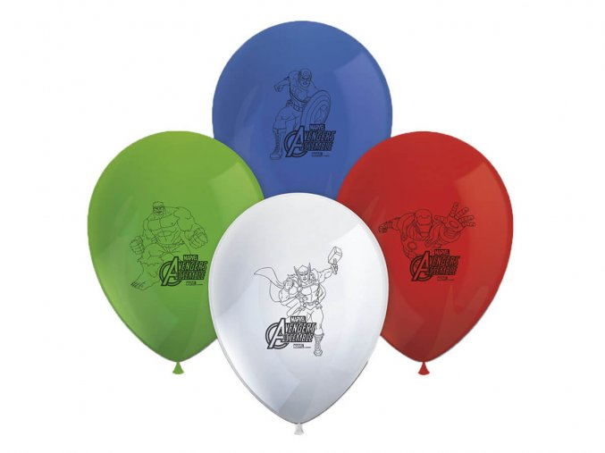 eng pl Avengers Latex Balloons 28 cm 8 pcs 39887 1