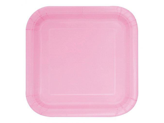 eng pl Lovely Pink Paper Plates 18 cm 20 pcs 25556 1