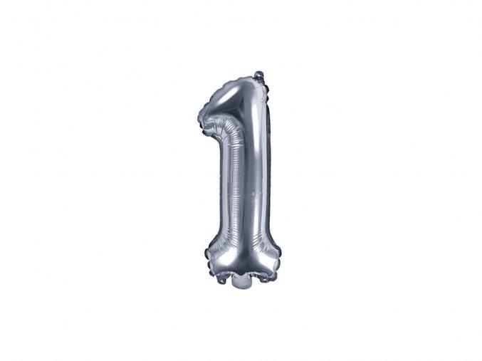 eng pl Mini Shape Number 1 Silver Foil Balloon 35 cm 1 pc 34279 2