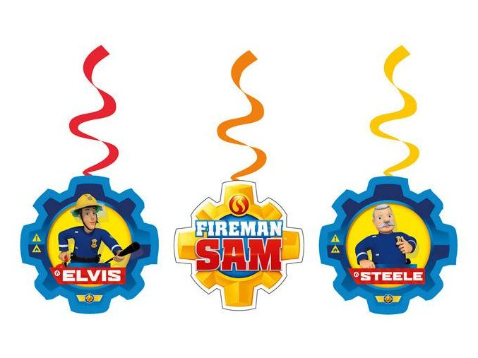 eng pl String Decoration Fireman Sam 6 pcs 24710 2