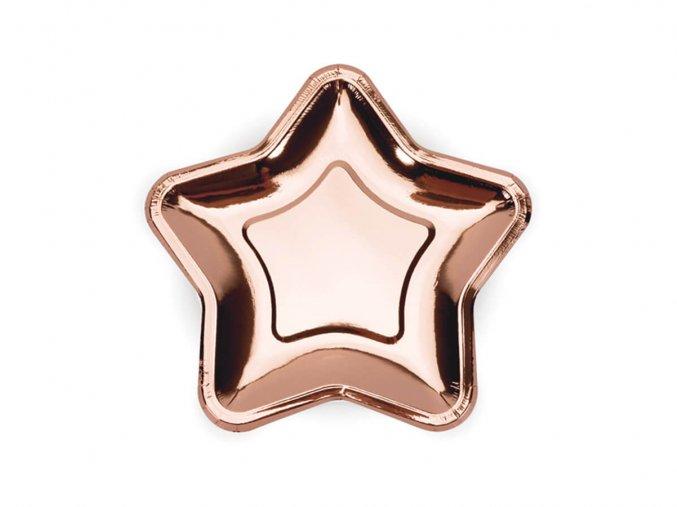 eng pl Paper Plates Star rose gold 18 cm 6 pcs 44540 3