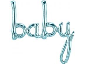 pastel blue baby phrase balloon FOIL2980 v1 lg
