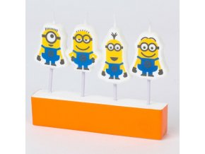 minion mini candle figures pack of 4 a