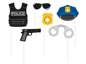 eng pl Police photo props 6 pcs 28166 2