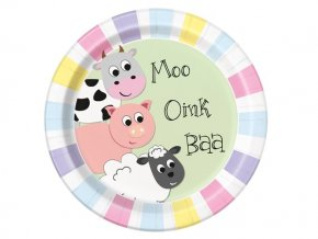 eng pl Paper plates Farm Friends 23 cm 8 pcs 28697 1