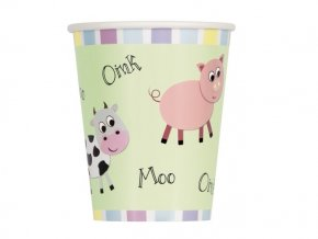 eng pl Paper cups Farm Friends 266 ml 8 pcs 28698 1