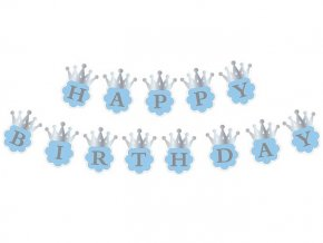 eng pl Blue Happy Birthday Garland 180 cm 1 pc 28152 2