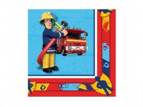 Servitky Požiarnik Sam 33x33cm, 20ks v balení