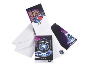 Police Party Invitations POLIINVI lg