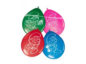 balony smerfy