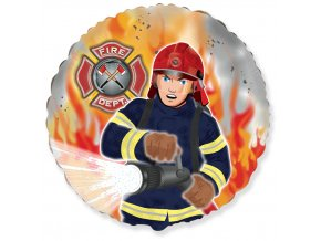 401582 18 inches Fireman Firefighter Foil balloons