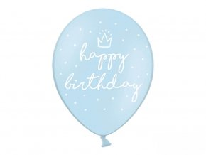 eng pl Strong Balloons Happy Birthday Blue 30 cm 6 pcs 27388 1