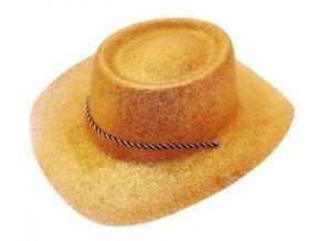 Klobúk zlatý kovboj