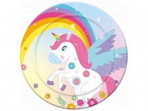 eng pl Paper Plates Rainbow Unicorn 23 cm 6 pcs 32570 1
