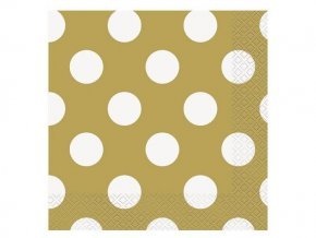 eng pl Gold dots lunch napkins 25 cm 16 pcs 30632 1