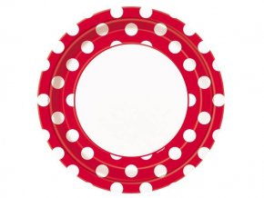 eng pl Ruby red dots plates 23 cm 8 pcs 25251 1