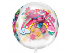 eng pl Orbz Trolls Foil Balloon Clear 38 x 40 cm 25341 3