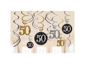 špirály 50  happy Birthday  12ks v balení