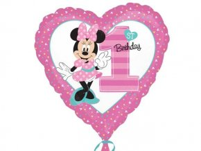 eng pl Minnie 1st Birthday Foil Balloon 43 cm 1 pc 24716 1