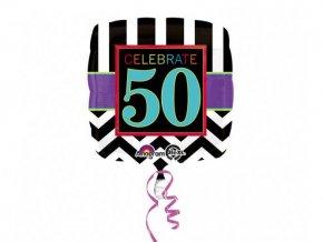 eng pl Standard Celebrate 50 Foil Balloon 43 cm 1 pc 26889 1