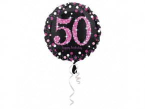 eng pl Birthday Explosion 50th Prismatic Foil Balloon 43 cm 26501 2
