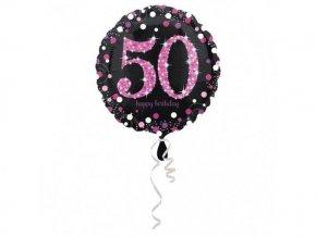 eng pl Birthday Explosion 50th Prismatic Foil Balloon 43 cm 26501 2