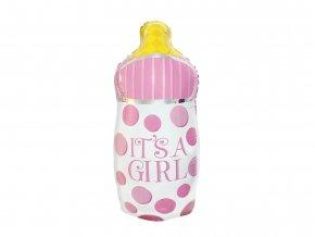 eng pl Baby Girl Foil Balloon 82 cm 49272 1