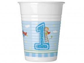 eng pl Boys First Birthday plastic cups 200ml 8 pcs 16211 1
