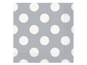 eng pl Silver dots beverage napkins 25 cm 16 pcs 27187 2