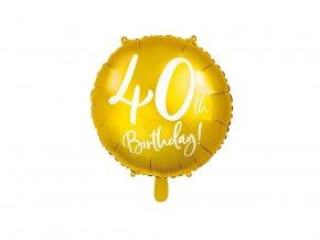 eng pl 40th Birthday Balloon 45 cm 1 pc 37264 1