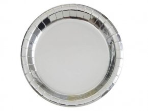 eng pl Silver foil plates 18 cm 8 pcs 24477 2