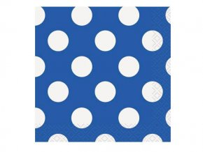eng pl Blue Napkins with Dots 33 cm 16 pcs 25256 2