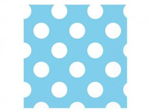 eng pl Powder blue dots lunch napkins 33 cm 16 pcs 25218 2