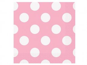 eng pl Pink Napkins with Dots 33 cm 16 pcs 25284 1
