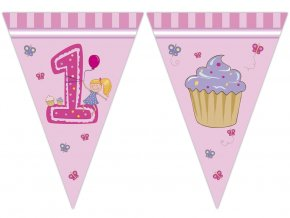 eng pl Pink 1st birthday flag banner 29393 2