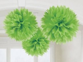 eng pl Green Fluffy Decoration 40 6cm 3 pcs 8084 2