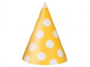eng pl Yellow Hats with Dots 8 pcs 26264 1