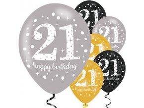 21 gold sparkling celebration balloon scelball21