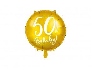 eng pl 50th Birthday Balloon 45 cm 1 pc 37265 2