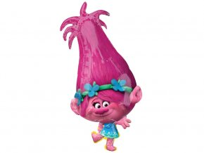 eng pl Poppy Trolls Super Shape Foil Balloon 38x78 1 pc 31242 2