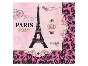 eng pl Lunch Napkins A Day In Paris squared paper 33 cm 16 pcs 27159 1
