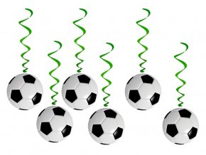 eng pl Swirl Decorations Football 6 pcs 44782 2