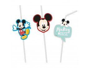 pc 089011 procos disney mickey awesome mouse drinking straws 6pcs 1564322264