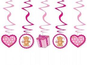 eng pl Pink teddy bear swirls length 60cm 5 pcs 3155 1