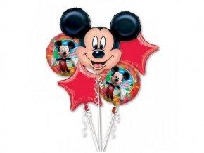 Fóliové balóny kytica clubhause Mickey Mouse 5ks v balení