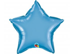 balon foliowy 20 cali ql gwiazda chrom niebieska