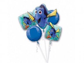 balónová kytica Hľadá sa dory 5ks v balení