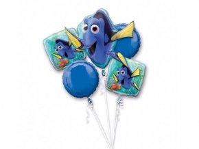 Fóliový balón kytica Hlada sa Dory 5ks v balení